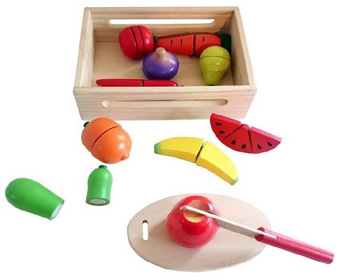 zabawka drewniane warzywa