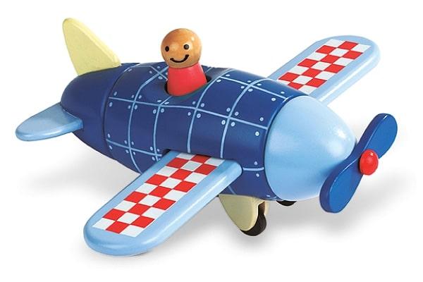 janod drewniany samolot