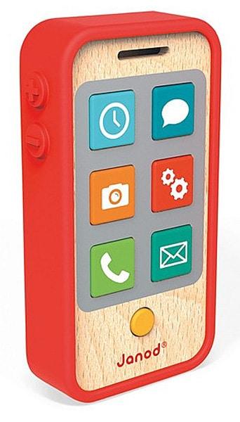 telefon drewniany janod