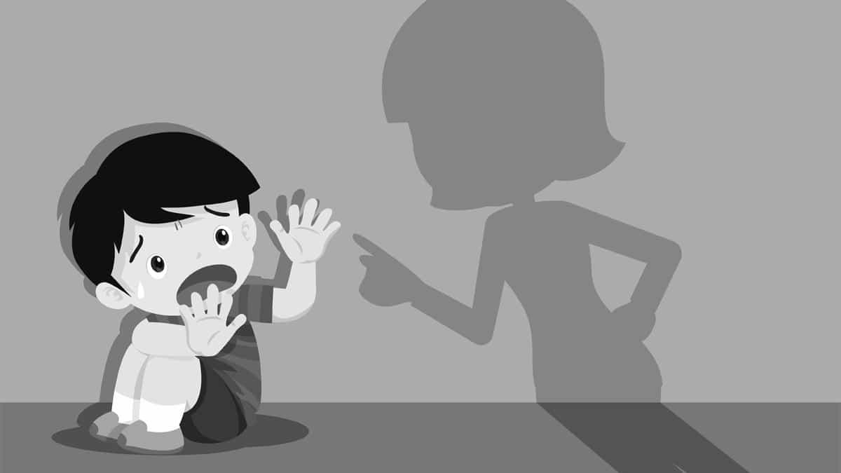 jak dziecko reaguje na krzyk