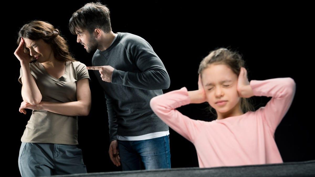 wpływ kłótni na dziecko