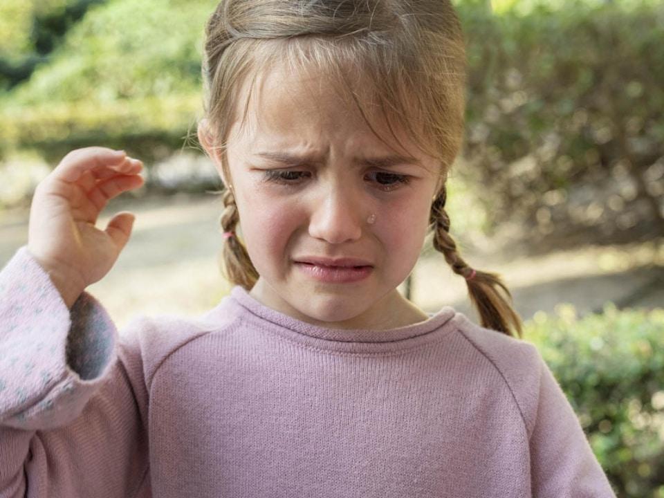 mówienie do dziecka nie płacz